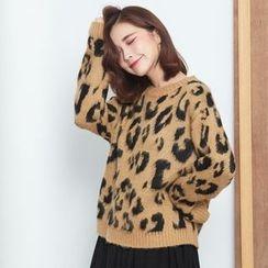 BAIMOMO - Leopard-Pattern Sweater