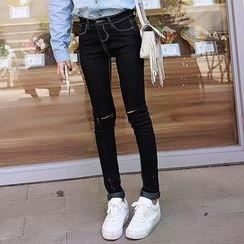 Glen Glam - Ripped High Waist Jeans
