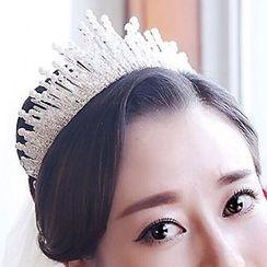 Neostar - Bridal Rhinestone Faux Pearl Crown