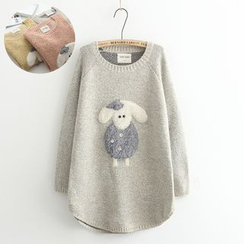Vateddy - Applique Knit Top