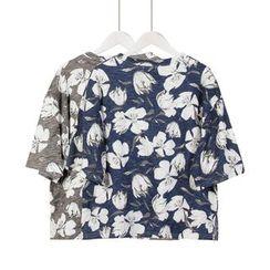 Momewear - Short-Sleeve Floral T-Shirt