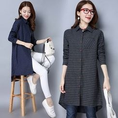 Ebbie - Striped Long Shirt