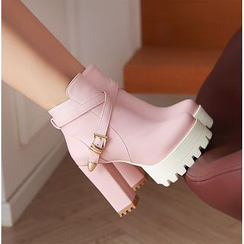 Sleeko - 厚底粗跟及踝靴