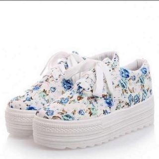 Pangmama - Floral Platform Sneakers