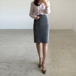 Seoul Fashion - Corduroy Pencil Skirt