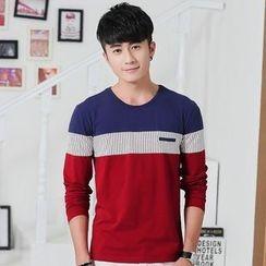 Neptuno - Color Block Long-Sleeve T-Shirt