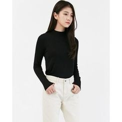 Someday, if - Mock-Neck Long-Sleeve Top