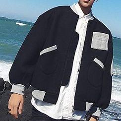 Streetstar - Woolen Padded Baseball Jacket