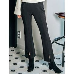 LOLOten - Slit-Front Brushed-Fleece Line Dress Pants