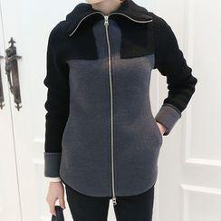 DANI LOVE - Stand-Collar Zip-Up Jacket