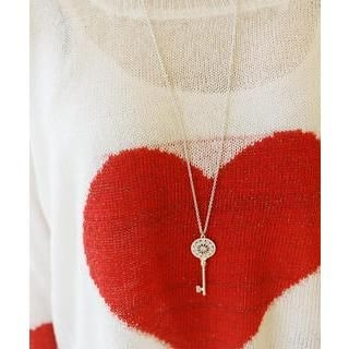 DANI LOVE - Rhinestone Key Necklace
