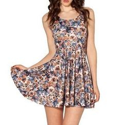 Omifa - Cat-Print Sleeveless Dress