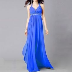 AIXI - Embellished Sleeveless A-Line Evening Gown