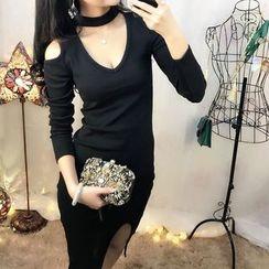 Baliz - Cold Shoulder Knit Dress
