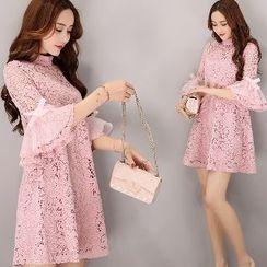 Romantica - Bell-Sleeve Lace Tunic