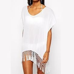 Sunset Hours - Tassel Cover-Up Dress