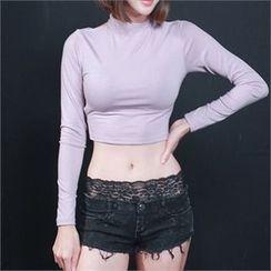 clubber - Lace-Trim Hot Pants