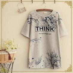 Fairyland - Lettering Short-Sleeve T-Shirt
