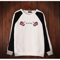 Bigboy - Embroidered Panel Sweatshirt