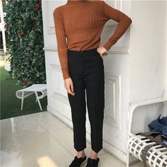 Eva Fashion - Plain Tapered Pants