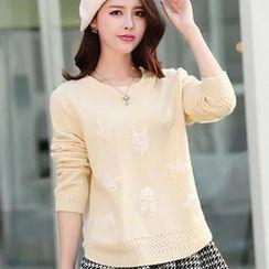 Soft Luxe - Set: Beaded Sweater + A-Line Skirt