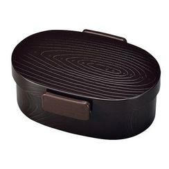 Hakoya - Hakoya Tight Mokume Oval Lunch Box Small (Urumi)