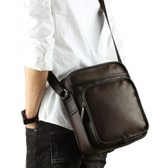 Moyyi - Faux Leather Crossbody Bag