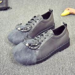EMIL - Embellished Lace-Up Maternity Shoes