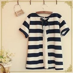 Fairyland - Striped Lace Back T-Shirt