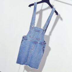 Moire - Denim Jumper Skirt