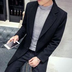 Besto - Plain Lapel Coat