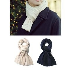 JOGUNSHOP - Two-Tone Knit Scarf