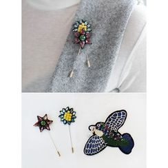STYLEBYYAM - Set of 3: Beaded Brooch