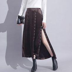 Sonne - Metals Velvet Maxi Skirt