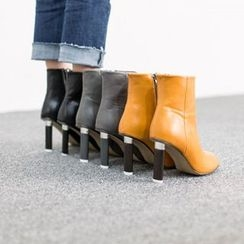 VIVIER - Zip-Up Faux-Leather Booties