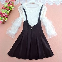 Hermia - Set: Lace Top + Suspender Skirt