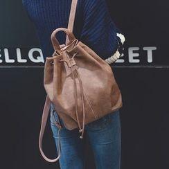 Seok - 两件套: 仿皮水桶背包 / 水桶包