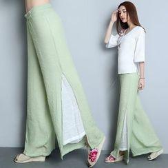 Diosa - Linen Wide Leg Pants