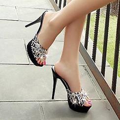 Sidewalk - 厚底豹紋涼鞋