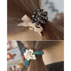 Miss21 Korea - Faux-Pearl Cluster Beribboned Hair Tie
