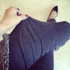 Shandie - Fleece-Lined Slim-Fit Maternity Jeans