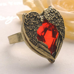 Fit-to-Kill - Red Diamond Wing Ring - Copper