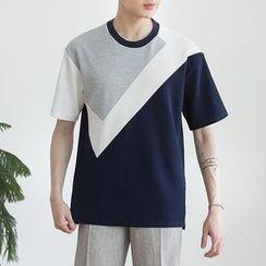 DANGOON - Short-Sleeve Color-Block T-Shirt