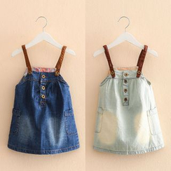 Seashells Kids - Kids Denim Pinafore Dress