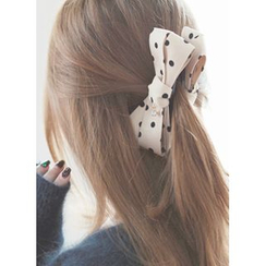 kitsch island - Bow Dotted Hair Clamp