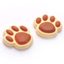 ioishop - Dog Footprint Sticker ( One Pair ) - Brown