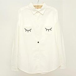 Jill & Jane - Long-Sleeve Embroidered Shirt