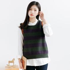 Forest Girl - Stripe Knit Vest