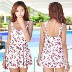 Lady J Swimwear - Cherry Print Swimdress