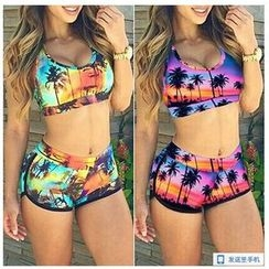 Rivergirl - Set: Printed Tankini + Swim Shorts